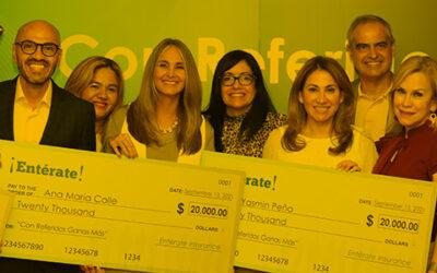 Premiamos con $60,000 a los agentes de seguros en mi empresa Entérate.